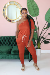 "The ""Other Side"" Rust Jumpsuit"