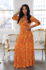 "The ""Sun Daze"" Orange Wrap Dress"