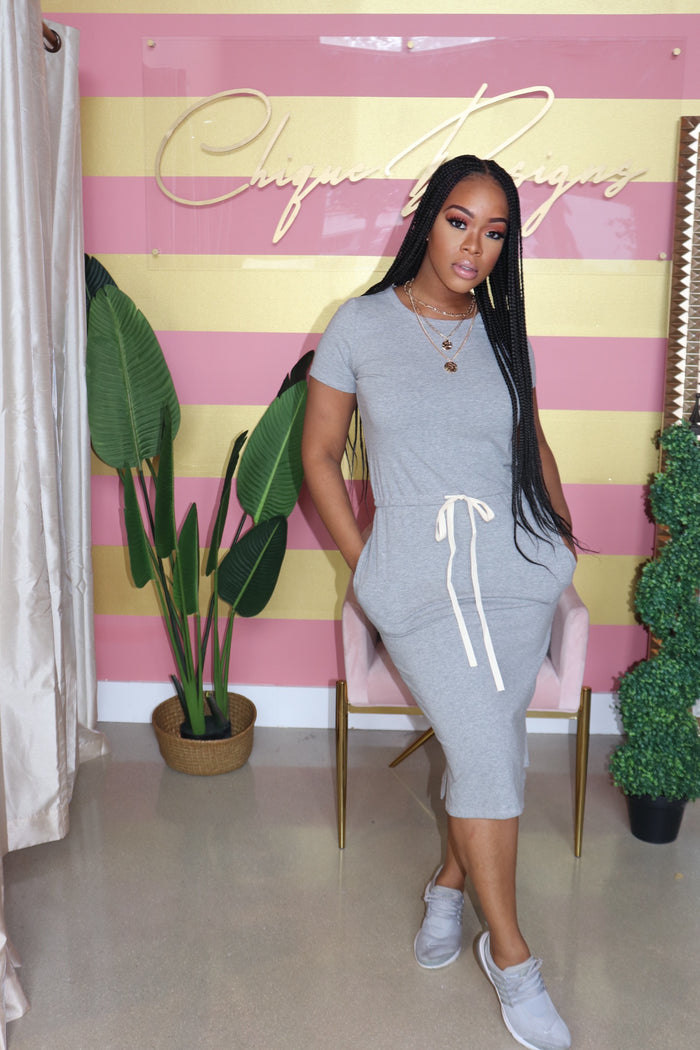 "The ""Keep it Simple"" Grey Dress"