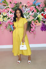 "The ""Day Out"" Mustard Dress"