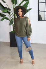 "The ""Cozy and Fly"" Olive Sweater"
