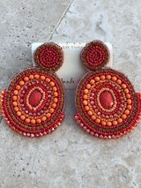 "The ""Baha"" Orange Earrings"