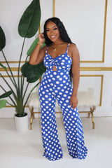"The ""Polka Dot"" Blue Jumpsuit"