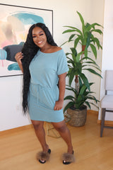 "The ""Chill with me"" Teal dress"