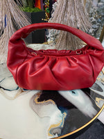 "The"" Red Faux Leather tote"