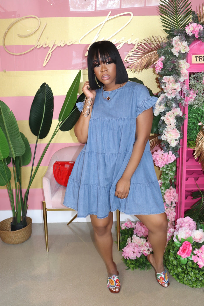 "The ""Denim"" Babydoll Dress"
