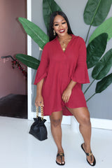 "The ""Day Out"" Burgundy Dress"