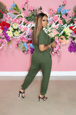 "The ""Simple Fit"" Army Green Jumpsuit"