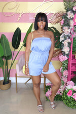 "The ""Bimini"" Blue Romper"
