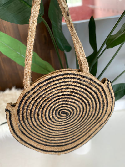 "The ""Going in Circles"" Black Bag"