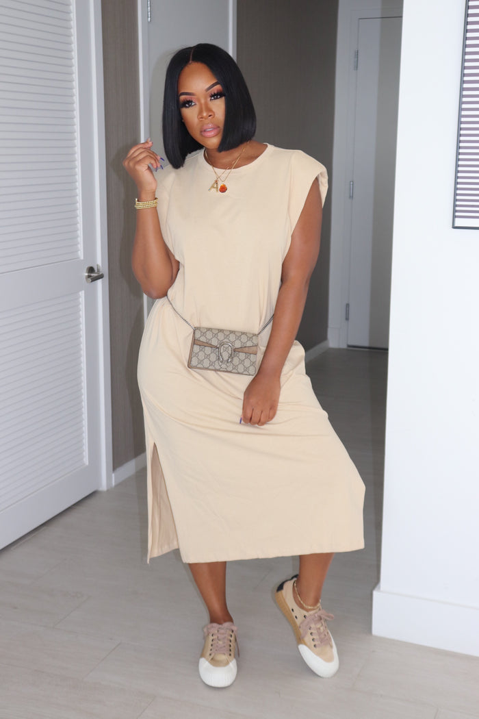 "The ""Valley Girl"" Nude Padded Dress"
