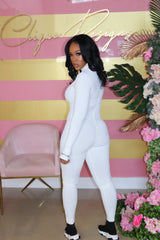 "The ""Lucky Me"" White Jumpsuit"