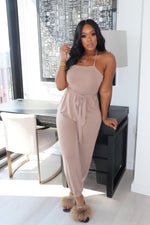 "The ""Gianna"" Mocha Jumpsuit"