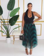 "The ""Classy Plaid"" Green Skirt"