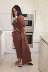 "The ""Classy Chic"" Brown Dress"