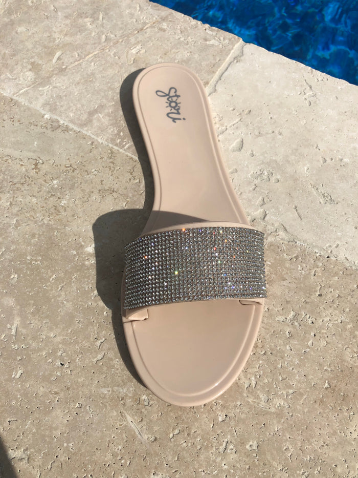 "The "" Bling Glam"" Tan Sandal (Final Sale)"