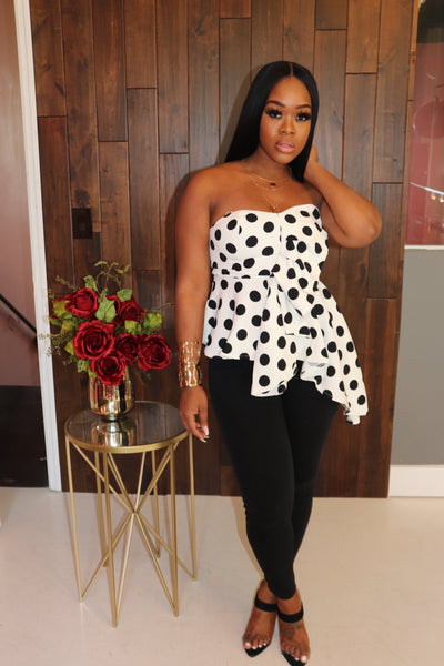 "The ""Polka Dot"" One Sided Top"