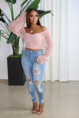 "The ""I'm still pretty"" Pink Off shoulder Top"