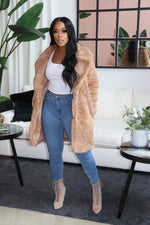 "The ""Boss Up"" Taupe Coat"