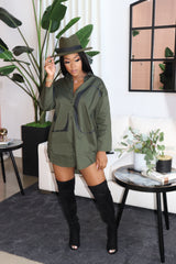 "The ""It's all Love"" Olive Top/Dress"