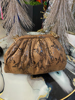 "The"" Camel Faux Skin""Tote"