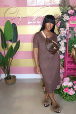 "The "" Love Me"" Mocha Dress"