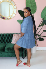 "The ""Baby Denim"" Medium Wash Dress"