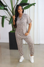"The ""I'm just fine"" Leopard Jumpsuit"
