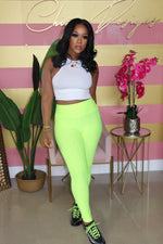 "The ""Work Me Out"" Neon Yellow Pants"