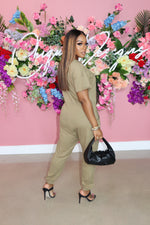 "The ""Simple Fit"" Khaki Jumpsuit"