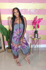 "The "" Swirl Me"" Purple Jumpsuit"