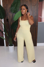 "The ""Lemonade"" Yellow Jumpsuit"