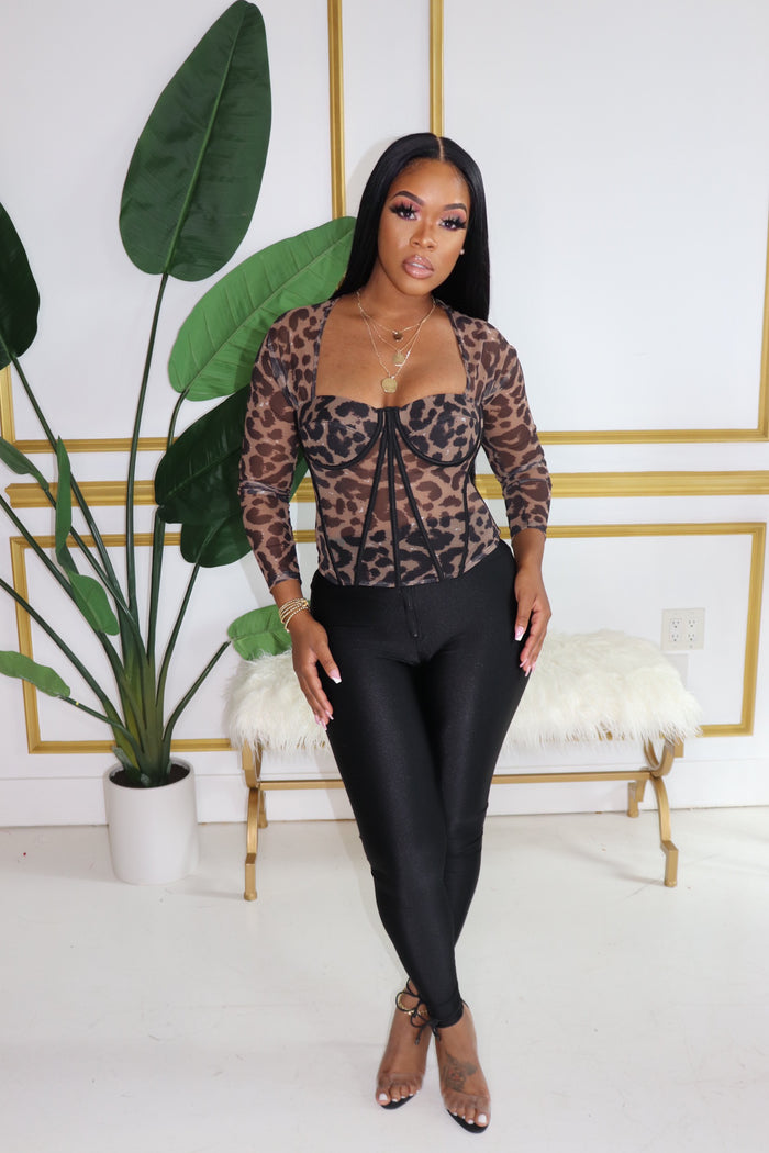 "The ""Leopard"" Long Sleeve Top"