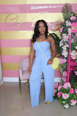 "The ""Me, Myself and I"" Spring Blue Jumpsuit"