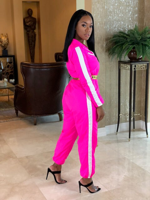 """The Neon Pink Fashion Jumpsuit"""
