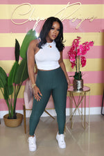 "The ""Work Me Out"" Forest Green Pants"