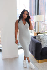 "The ""Fit Me Girl"" Grey Dress"