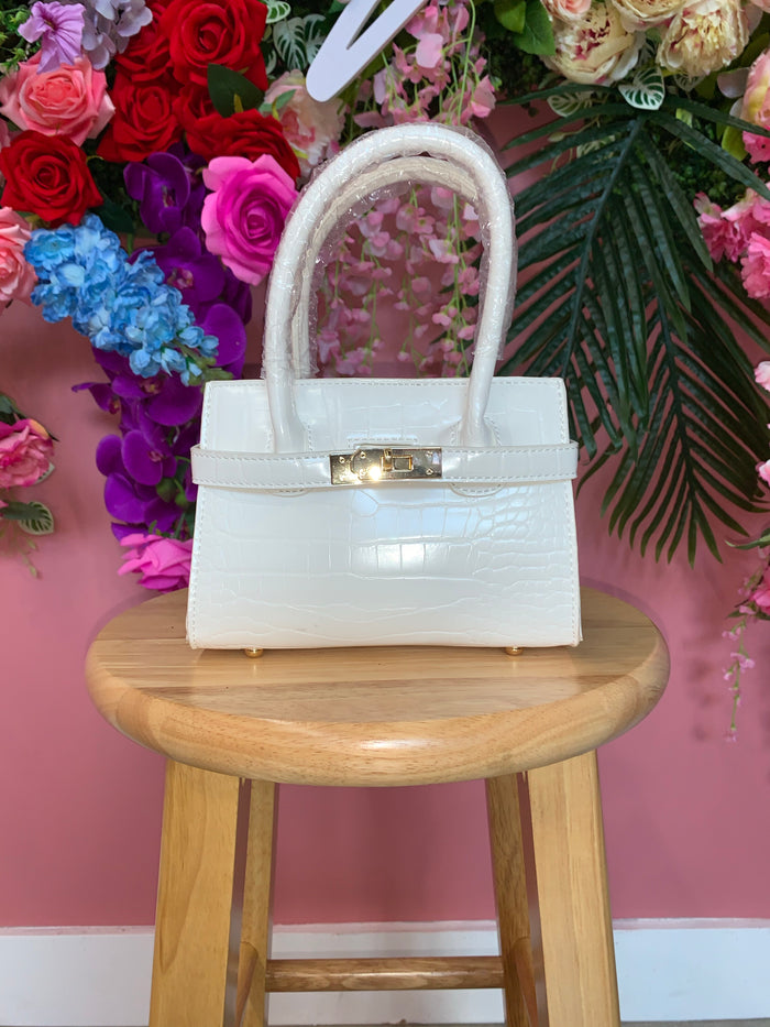 Too Cute Mini Purse White