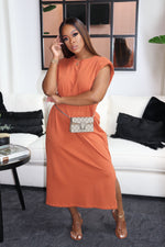 "The ""Valley Girl"" Burnt Orange Dress"