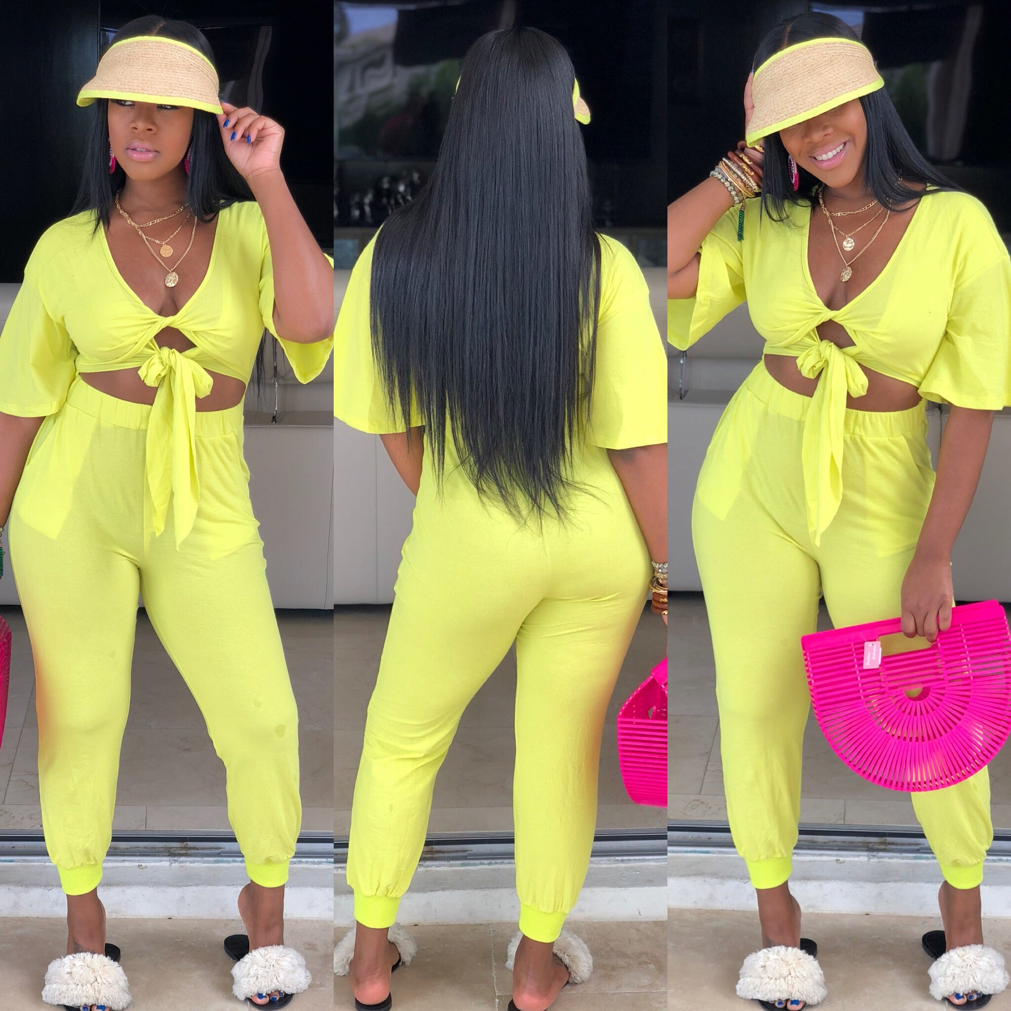 "The ""Neon Bow Tie"" Jumpsuit"