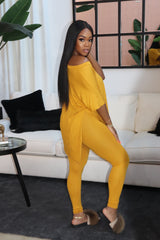 "The ""Lounge Me"" Mustard Set"