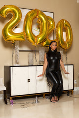 "The ""New Year"" Black Shingle Jumpsuit"
