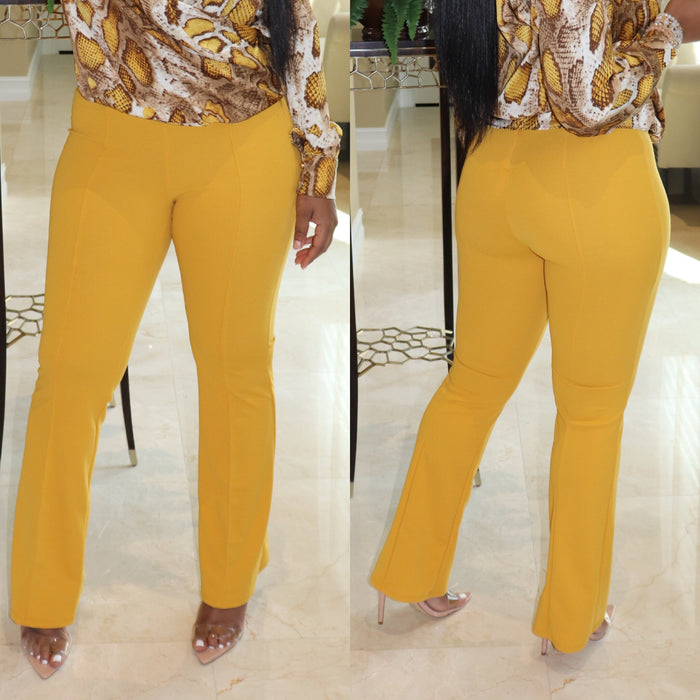 "The ""Mustard"" High-waist Pants"