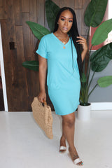"The ""Basic Girl"" Ash Mint  Dress"