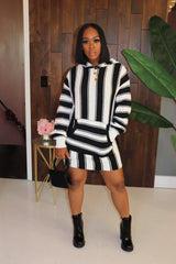 "The ""Black n White"" Hoodie Dress"