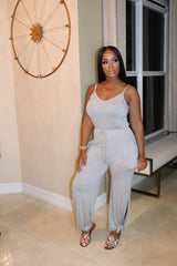 "The ""Easy Breeze"" Grey Jumpsuit"