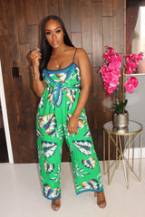 "The ""Keep it Green"" Floral Jumpsuit"