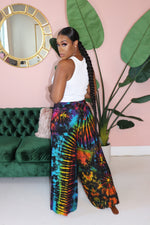 "The ""Split Me Up"" Black Rainbow Pants"