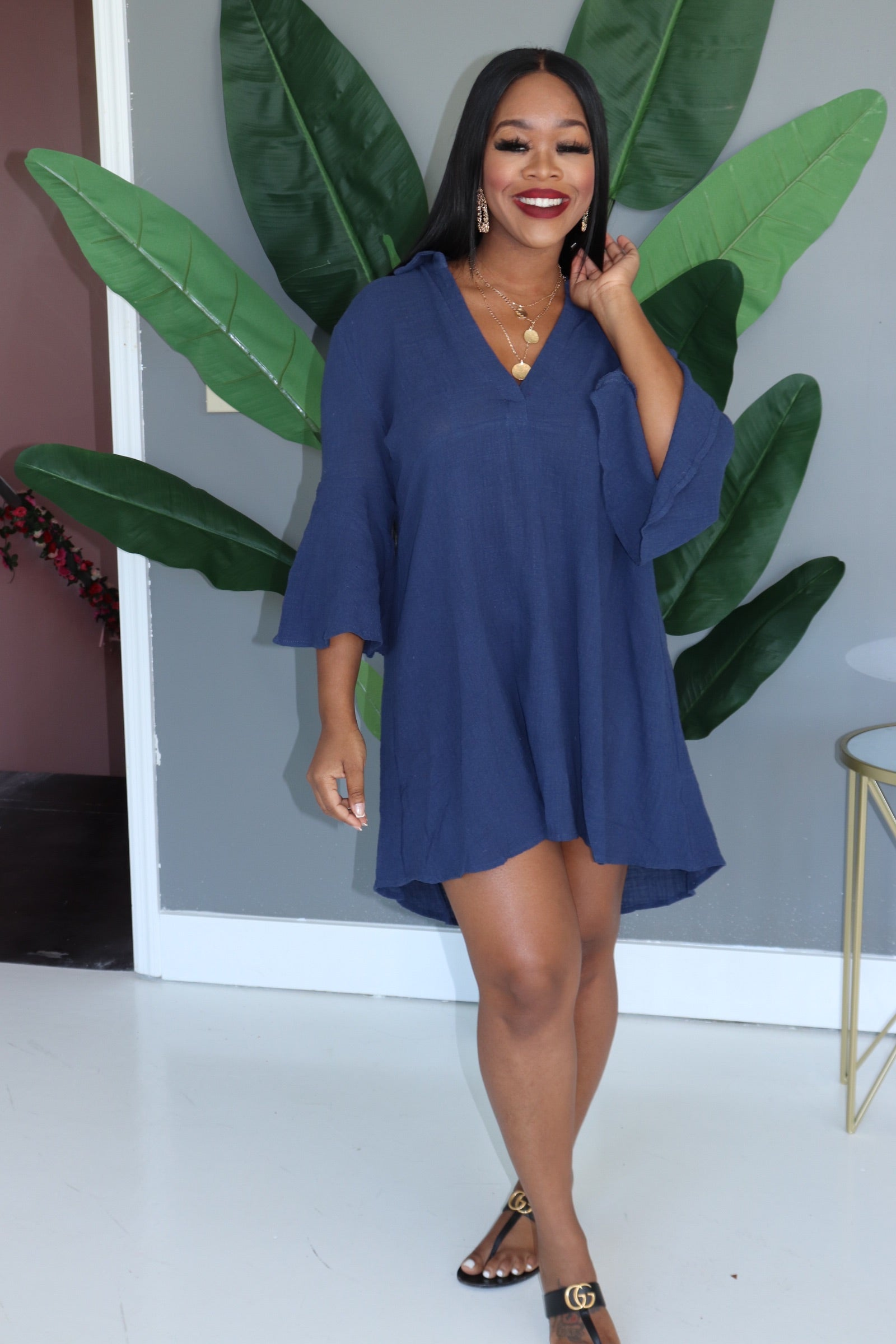 "The ""Day Out"" Denim Blue Dress"
