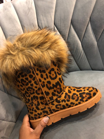 "The ""Leopard"" Cozy Boots (Final Sale)"